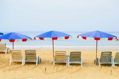 Sedia di spiaggia Immagine Stock