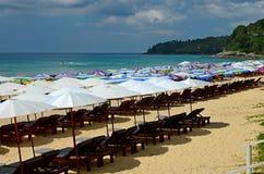 Sedia di spiaggia Fotografie Stock Libere da Diritti