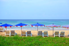 Sedia di spiaggia Immagini Stock Libere da Diritti