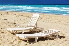Sedia di spiaggia Fotografia Stock Libera da Diritti