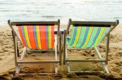 Sedia di spiaggia del mare Fotografia Stock