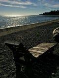 Sedia di spiaggia dell'oceano Immagine Stock Libera da Diritti