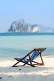 Sedia di spiaggia per tempo di vacanza Fotografia Stock