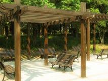 Sedia e parco Fotografia Stock