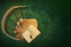 Sedia ed autunno Immagine Stock