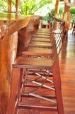 Sedia nella località di soggiorno Fotografia Stock