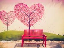 Sedia rossa Fotografie Stock