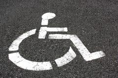 Sedia a rotelle dell'asfalto Immagine Stock Libera da Diritti