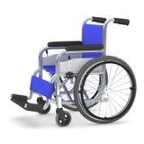 Sedia a rotelle, illustrazione 3D Fotografia Stock