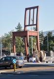 Sedia rotta a Ginevra Fotografie Stock