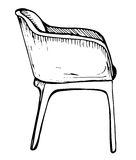 Sedia Schizzo su fondo bianco Illustrazione di vettore Fotografia Stock Libera da Diritti