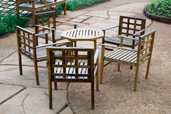 Sedia sul giardino, all'aperto Fotografia Stock