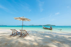Sedia sulla spiaggia Immagine Stock Libera da Diritti