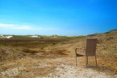 Sedia sulle dune Fotografie Stock