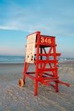 Sedia vuota del bagnino in Daytona Beach Fotografia Stock Libera da Diritti
