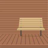 Sedia vuota sulla parete di legno Fotografie Stock