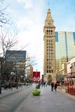 Sedicesimo centro commerciale del pedone della via di Denver Colorado Fotografia Stock Libera da Diritti
