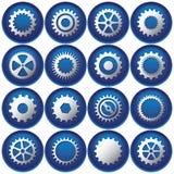 Sedici tasti/icone del dente Fotografia Stock Libera da Diritti