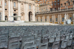 Sedie al Vaticano Fotografie Stock Libere da Diritti