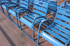 Sedie blu di Nizza Fotografia Stock Libera da Diritti