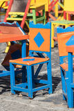 Sedie colombiane Colourful immagini stock