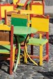 Sedie Colourful fotografia stock libera da diritti