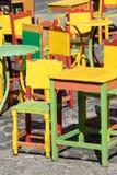 Sedie Colourful immagini stock