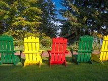 Sedie Colourful con la grande vista Fotografia Stock Libera da Diritti