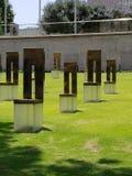 Sedie commemorative a Oklahoma City fotografia stock libera da diritti