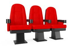 Sedie comode del cinema rosso del cinema rappresentazione 3d Fotografia Stock