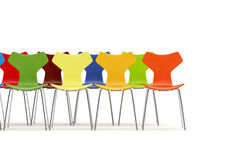 Sedie con il concetto di colore Immagini Stock
