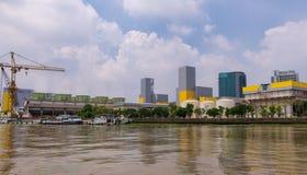 Sedie a construção da eletricidade que gera a autoridade de Tailândia EGAT imagem de stock