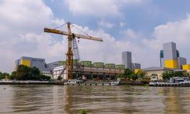 Sedie a construção da eletricidade que gera a autoridade de Tailândia EGAT fotos de stock