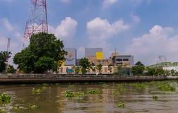 Sedie a construção da eletricidade que gera a autoridade de Tailândia EGAT foto de stock