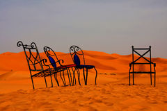 Sedie del deserto Fotografia Stock Libera da Diritti
