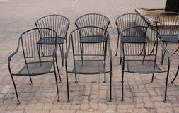 Sedie del ferro battuto Fotografie Stock Libere da Diritti