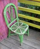 Sedie del rattan su un portico Fotografia Stock Libera da Diritti
