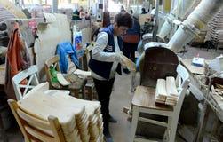 Sedie della fabbrica Immagini Stock