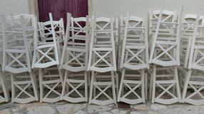 Sedie della locanda Immagini Stock