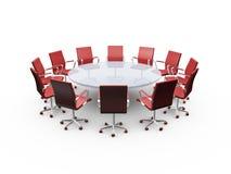 Sedie della Tabella e dell'ufficio di conferenza Immagini Stock Libere da Diritti