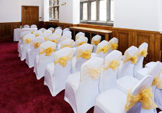 Sedie di cerimonia di nozze Immagine Stock Libera da Diritti