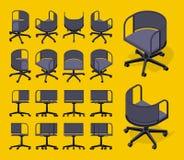 Sedie di filatura dell'ufficio isometrico Immagine Stock Libera da Diritti