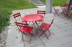 Sedie di giardino all'aperto Immagini Stock Libere da Diritti