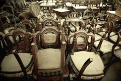 Sedie di legno antiche Fotografia Stock Libera da Diritti