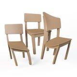 Sedie di legno distorte Fotografia Stock Libera da Diritti
