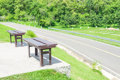 Sedie di legno gemellate Fotografia Stock