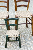 Sedie di legno tradizionali fotografia stock libera da diritti