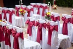 Sedie di nozze Immagine Stock