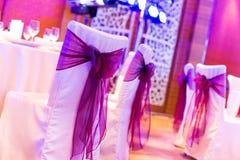 Sedie di nozze Fotografia Stock