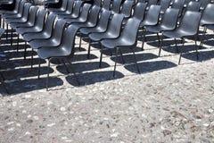Sedie di un cinema all'aperto Immagine Stock Libera da Diritti
